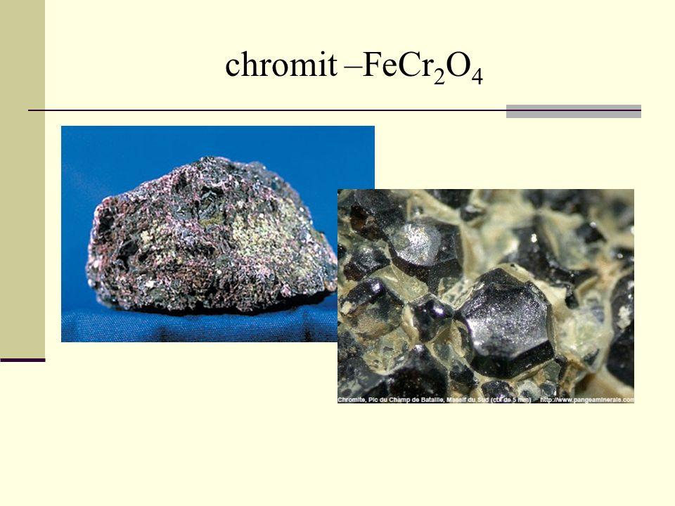 chromit –FeCr 2 O 4