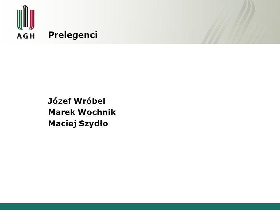 Prelegenci Józef Wróbel Marek Wochnik Maciej Szydło