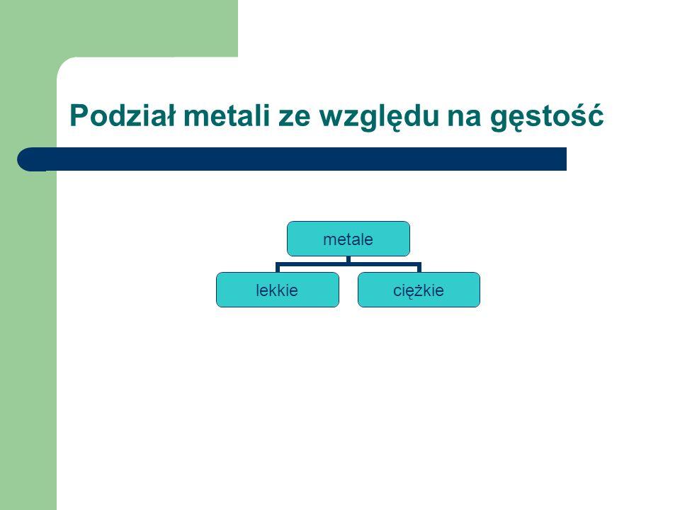 Podział metali ze względu na temperaturę topnienia metale łatwotopliwetrudnotopliwe bardzo trudnotopliwe