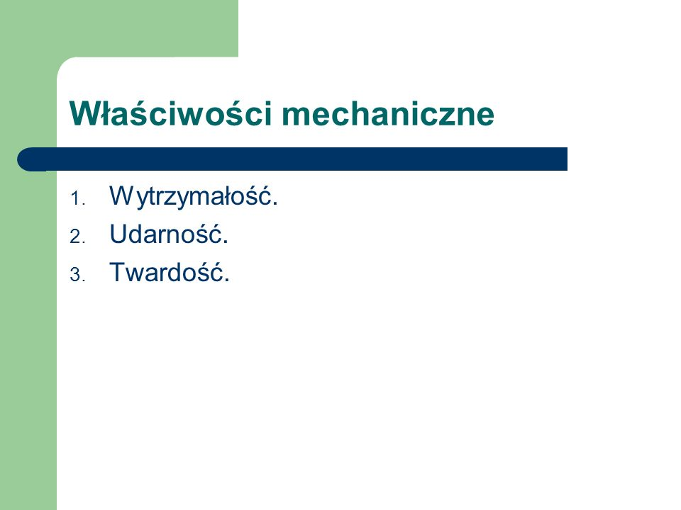 Własności mechaniczne metali