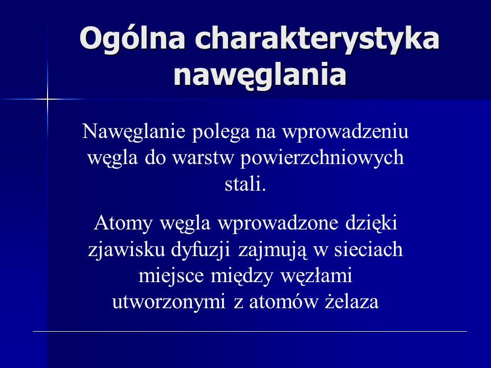 Nawęglanie 1) Ogólna 1) Ogólna charakterystyka nawęglania 2) Rodzaje 2) Rodzaje nawęglania