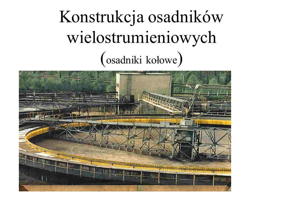 Konstrukcja osadników wielostrumieniowych ( osadniki kołowe )
