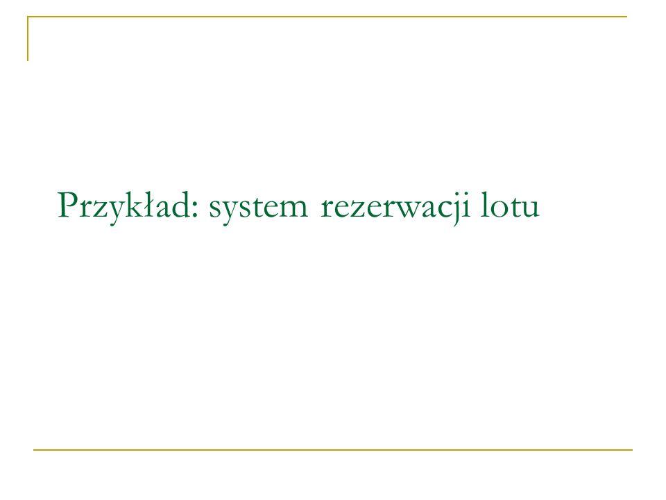 Przykład: system rezerwacji lotu