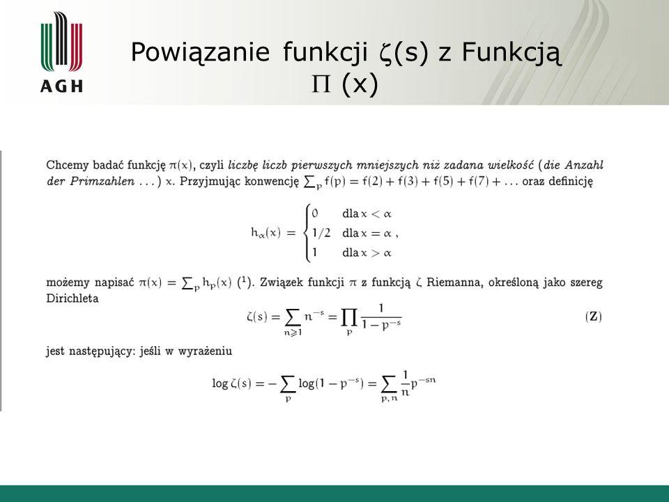Powiązanie funkcji (s) z Funkcją (x)