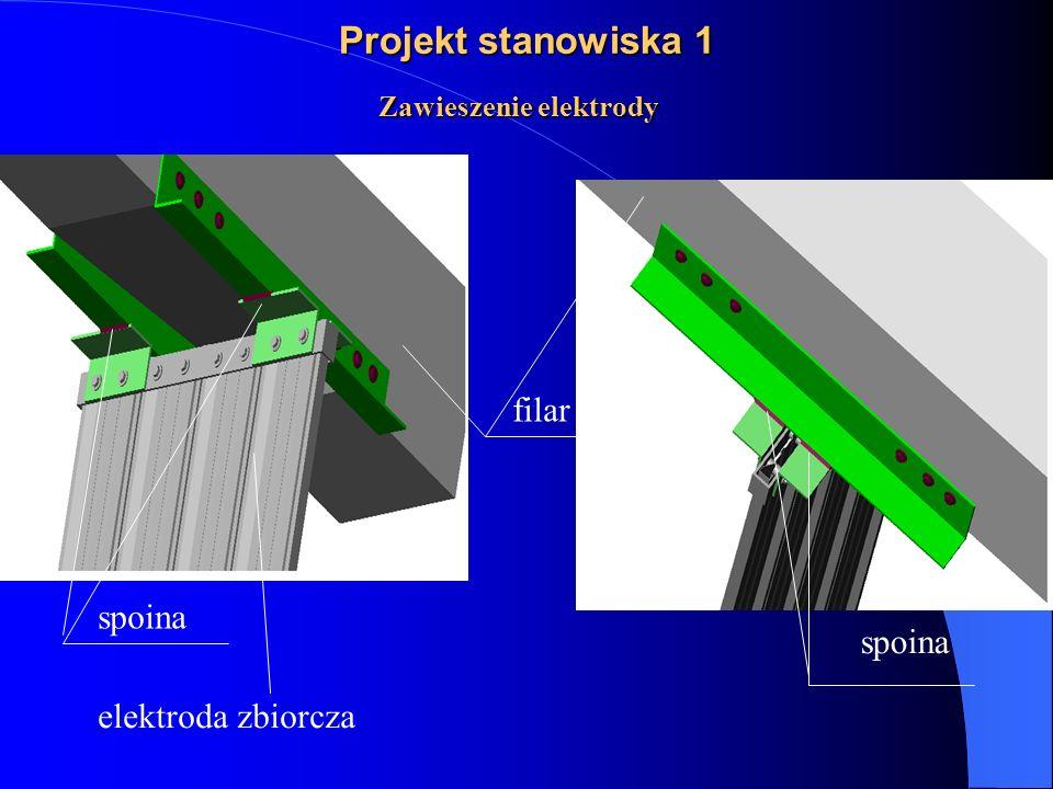 Zawieszenie elektrody spoina filar spoina elektroda zbiorcza Projekt stanowiska 1