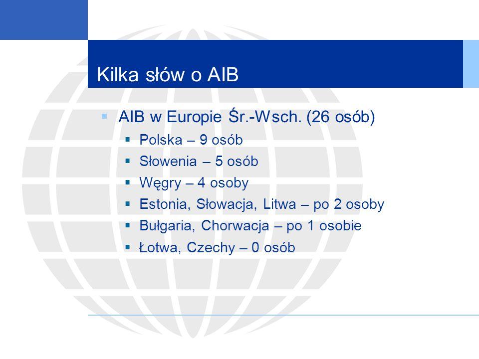 Kilka słów o AIB AIB w Europie Śr.-Wsch.