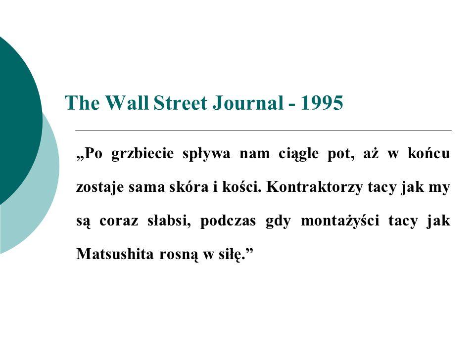 The Wall Street Journal - 1995 Po grzbiecie spływa nam ciągle pot, aż w końcu zostaje sama skóra i kości. Kontraktorzy tacy jak my są coraz słabsi, po