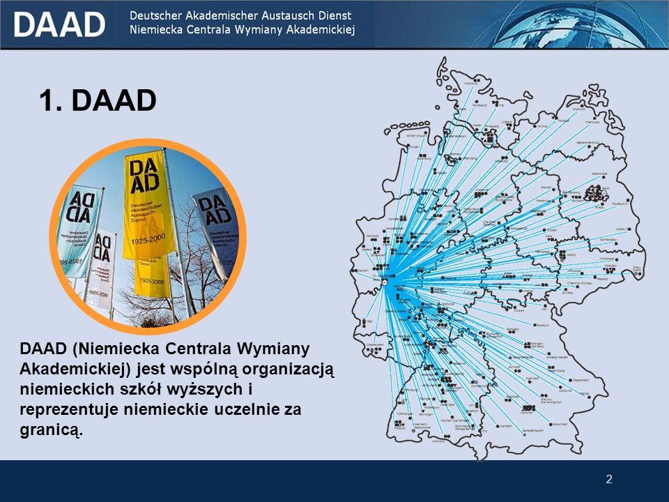 DAAD i jej oferta stypendialna dla Polaków Rok akademicki 2010/2011 dr Gero Lietz (lektor DAAD) Instytut Filologii Germańskiej UAM Poznań, al.