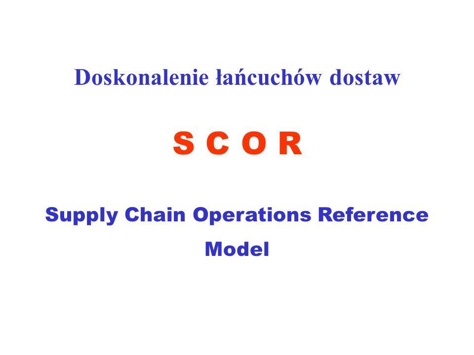 S C O R Doskonalenie łańcuchów dostaw Supply Chain Operations Reference Model