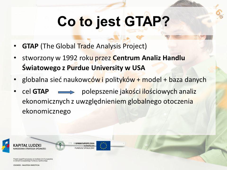 Program zajęć 24.06.2010: od założeń do gotowej symulacji - przykład aplikacji modelu GTAP na podstawie własnych badań symulacja własna: opracowanie założeń symulacji i spodziewanych wyników przygotowanie bazy danych na potrzeby własnych symulacji