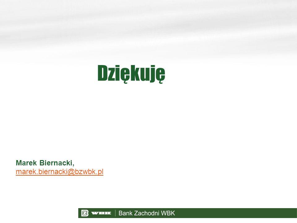 Dziękuję Marek Biernacki, marek.biernacki@bzwbk.pl