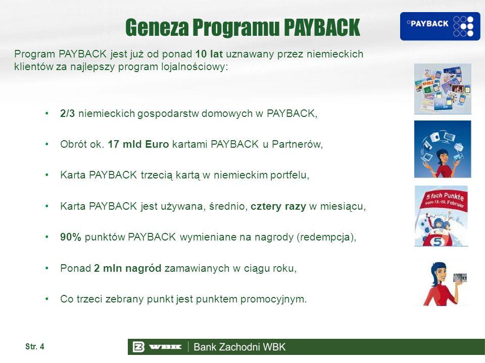 Geneza Programu PAYBACK Program PAYBACK jest już od ponad 10 lat uznawany przez niemieckich klientów za najlepszy program lojalnościowy: 2/3 niemiecki