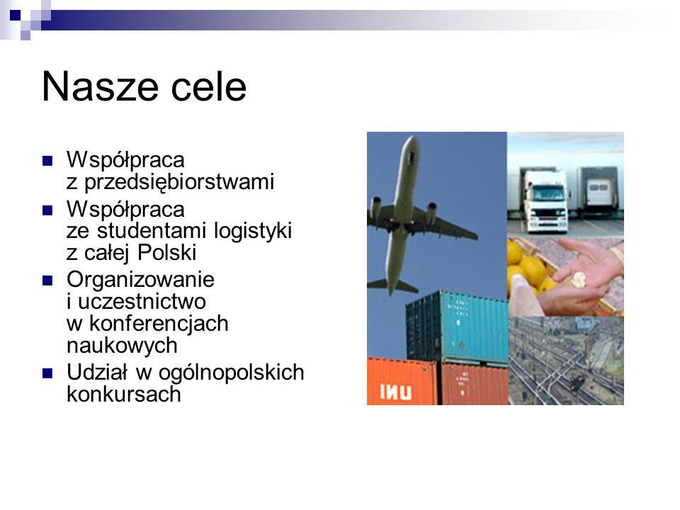 Nasze cele Praca nad projektami z zakresu logistyki Organizacja i udział w warsztatach Pisanie artykułów naukowych Przeprowadzanie badań naukowych
