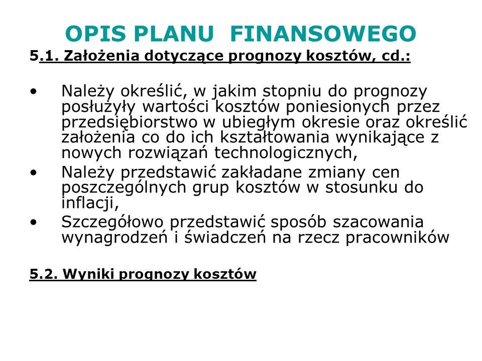 OPIS PLANU FINANSOWEGO 6.