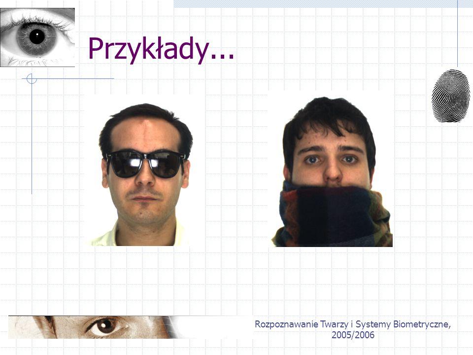 Rozpoznawanie Twarzy i Systemy Biometryczne, 2005/2006 Przykłady...