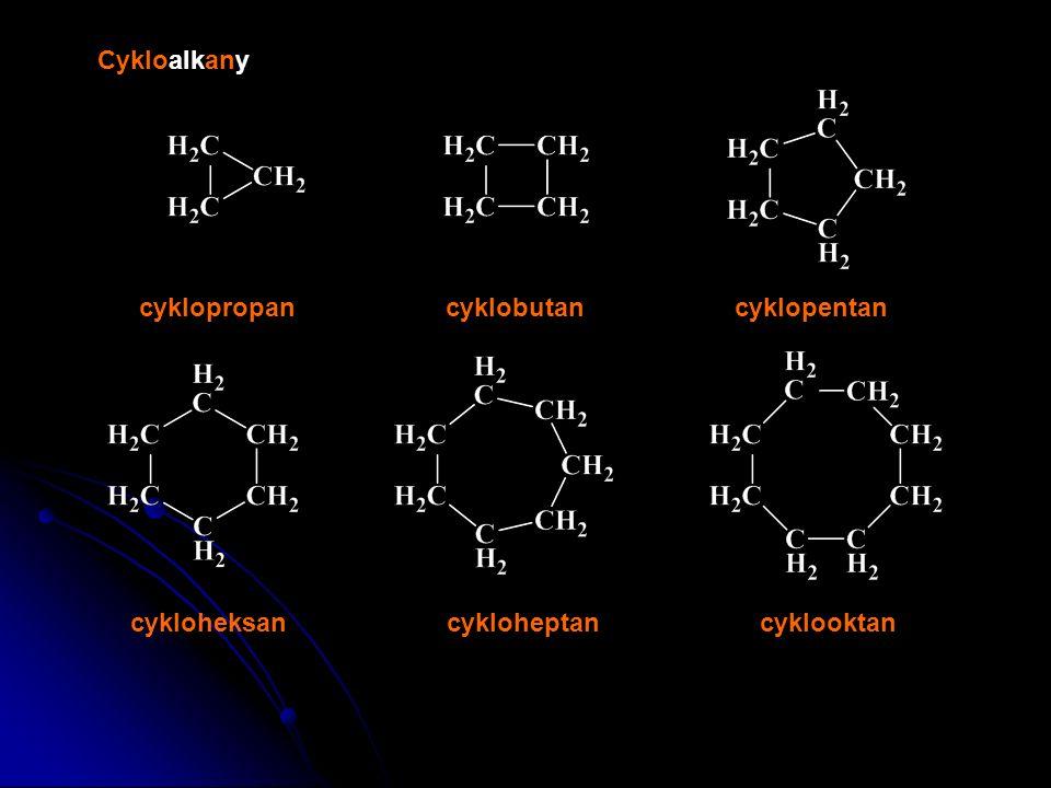 Alkany 2-metylobutan2,3-dimetylopentan 2,3,4-trimetyloheksan2,3,4,5-tetrametyloheptan