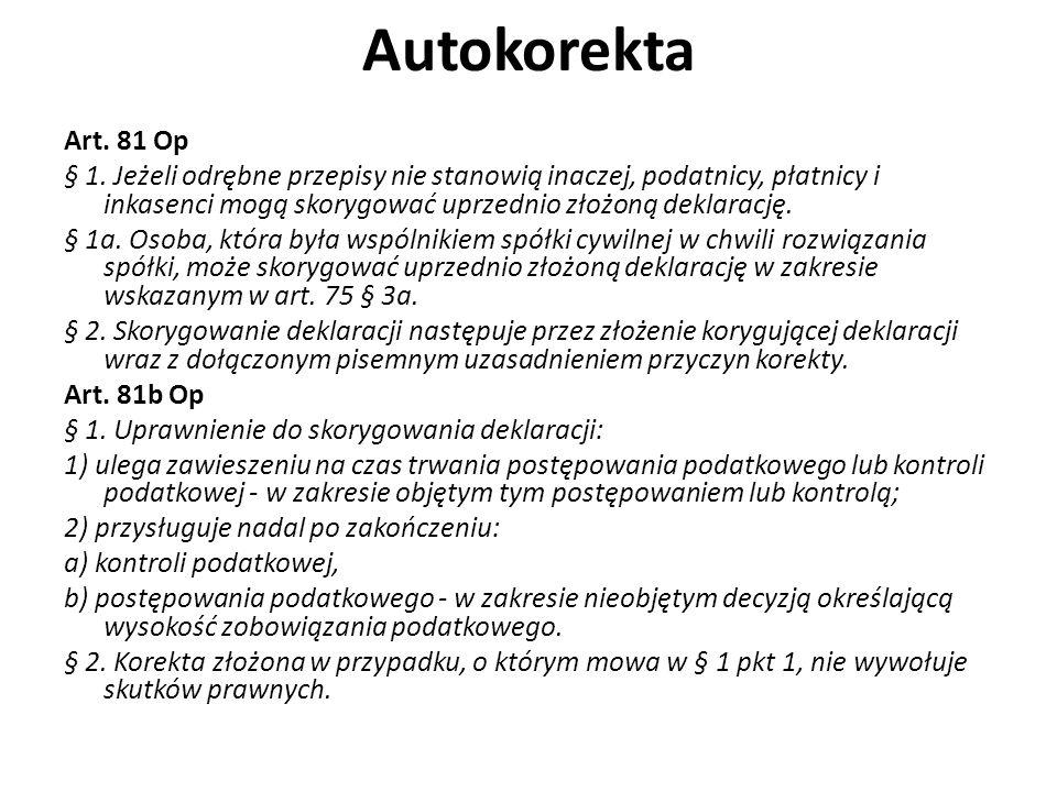 Autokorekta Art.81 Op § 1.