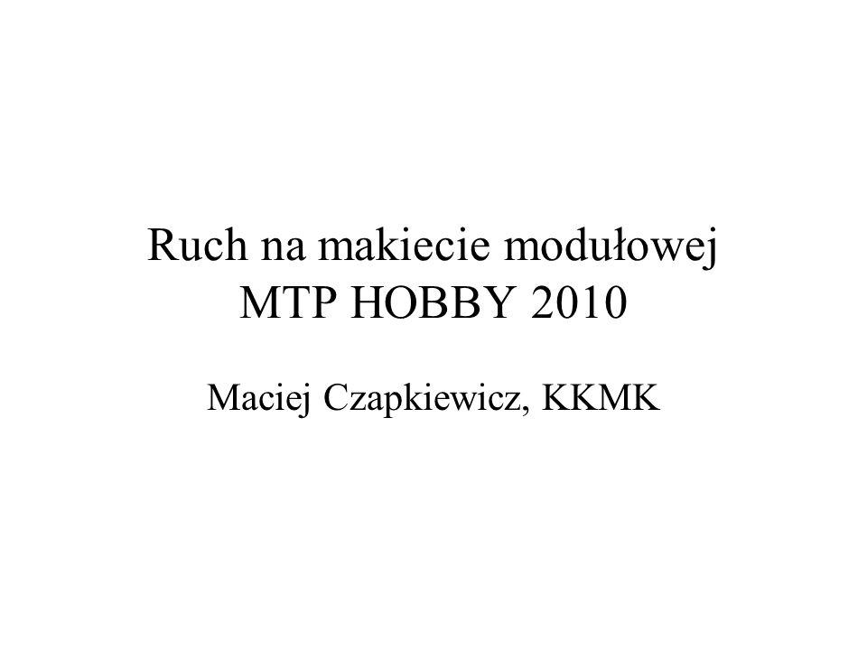 Ruch na makiecie modułowej MTP HOBBY 2010 Maciej Czapkiewicz, KKMK