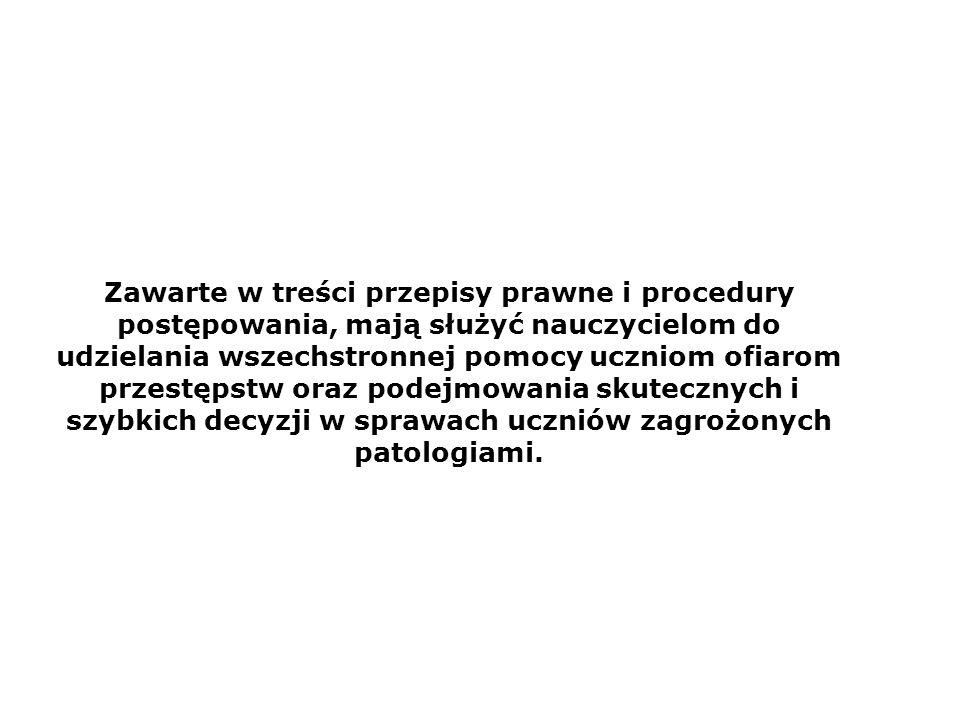 OBOWIĄZEK ZAWIADOMIENIA O PRZESTĘPSTWIE Ustawa z dnia 6.06.1997r.
