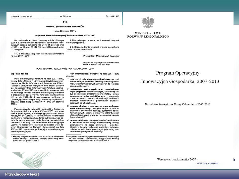 Przykładowy tekst Harmonogram Prac nad PIOZ w 2008