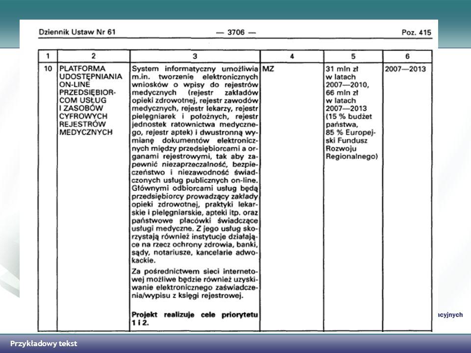 Kluczowe Projekty w Ochronie Zdrowia realizowane przez MZ/CSIOZ Łączna wartość dofinansowania projektów PIOZ wynosi 656 mln zł Łączna wartość dofinansowania wszystkich projektów kluczowych w ramach Priorytetu VII wynosi 1 835 mln zł