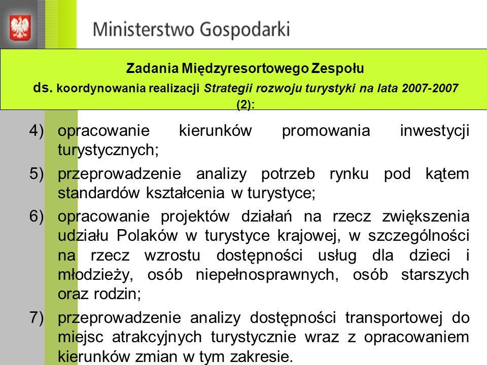 Wybrane projekty dotyczące turystyki uzdrowiskowej dofinansowane z funduszy strukturalnych UE w latach 2004-2006 PO RZL Działanie 2.3 Doskonalenie umiejętności i kwalifikacji kadr - Rozwój przemysłu hotelarsko-turystycznego poprzez szkolenie kadr w wykorzystywaniu nowoczesnych technologii (PART S.A.), - Rozwój nowoczesnych kadr branży turystycznej Polski Południowo- Wschodniej (Wyższa Szkoła Turystyki i Ekologii w Suchej Beskidzkiej), - Nowe szanse, nowe możliwości rozwoju potencjału kadr turystycznych i uzdrowiskowych (Instytut Turystyki w Krakowie Sp.
