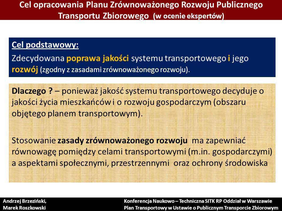 PODSUMOWANIE Dodatkową funkcją przygotowywanej ustawy powinna być poprawa jakości planowania, organizacji i zarządzania systemem transportowym !!.