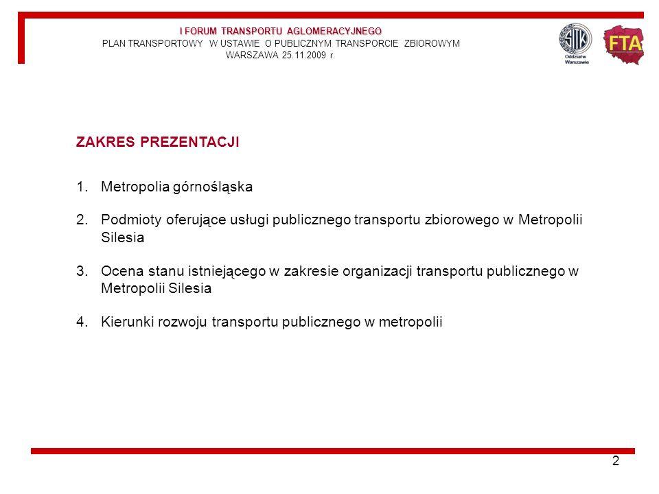 12 POZOSTALI OFERENCI USŁUG PRZEWOZOWYCH NA OBSZARZE GZM SILESIA MZKP TARNOWSKIE GÓRY porozumienie KZK GOP Katowice i MZKP Tarnowskie Góry kreujące od 1994 r.