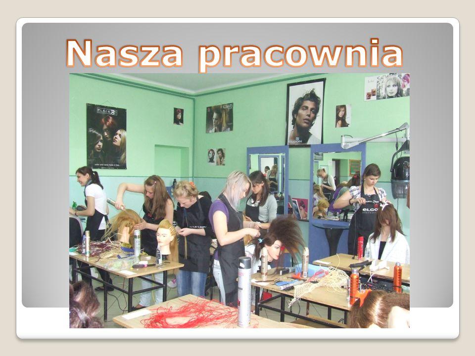 Technik usług fryzjerskich Praktyka odbywa się w pracowni szkolnej oraz w zakładach fryzjerskich. Na praktykach w szkole uczymy się wiele ciekawych rz