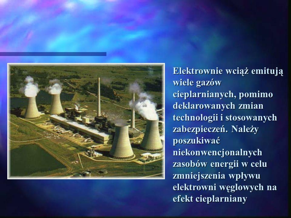 Część gazów dopływających do atmosfery jest wynikiem naturalnych procesów zachodzących na Ziemi. Jednak większość dostarcza działalność przemysłowa cz