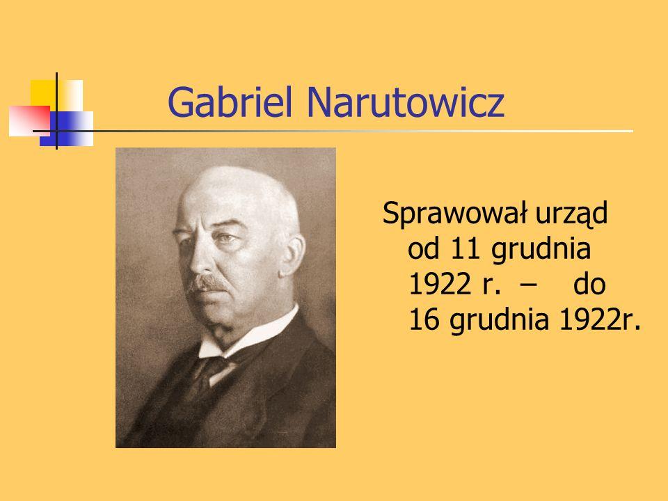 Gabriel Narutowicz urodził się 17 marca 1865 roku w Telszach na Żmudzi, w rodzinie powstańca styczniowego, właściciela majątku.
