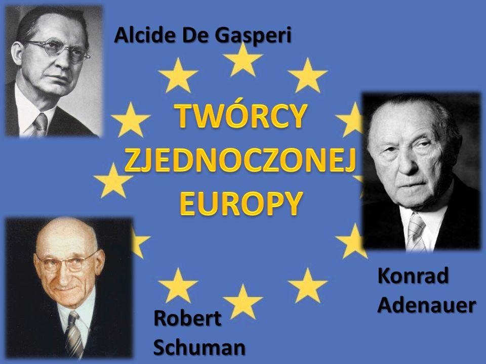 Alcide De Gasperi Robert Schuman Konrad Adenauer