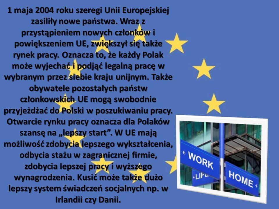 1 maja 2004 roku szeregi Unii Europejskiej zasiliły nowe państwa. Wraz z przystąpieniem nowych członków i powiększeniem UE, zwiększył się także rynek