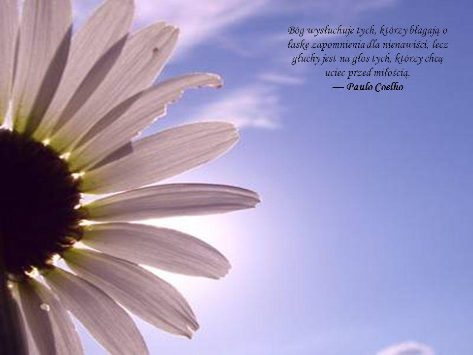 Bóg wysłuchuje tych, którzy błagają o łaskę zapomnienia dla nienawiści, lecz głuchy jest na głos tych, którzy chcą uciec przed miłością. Paulo Coelho