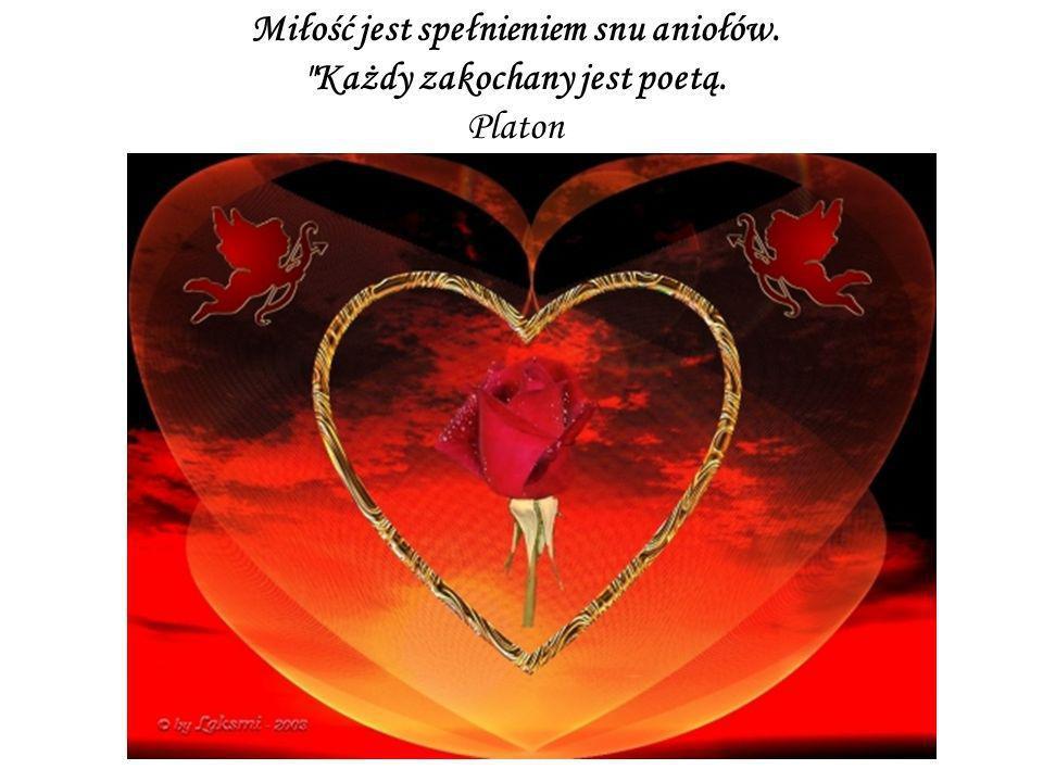 Miłość jest spełnieniem snu aniołów.
