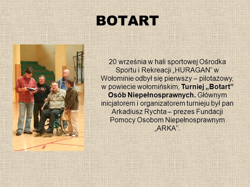BOTART 20 września w hali sportowej Ośrodka Sportu i Rekreacji HURAGAN w Wołominie odbył się pierwszy – pilotażowy, w powiecie wołomińskim, Turniej Bo