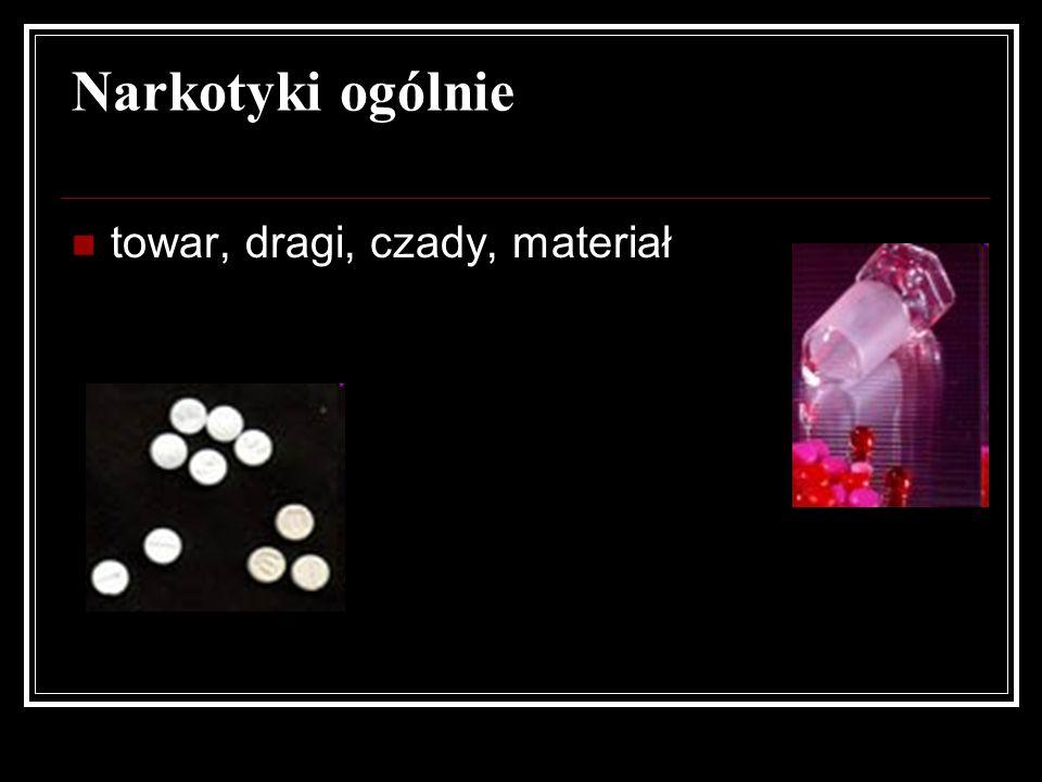 towar, dragi, czady, materiał Narkotyki ogólnie