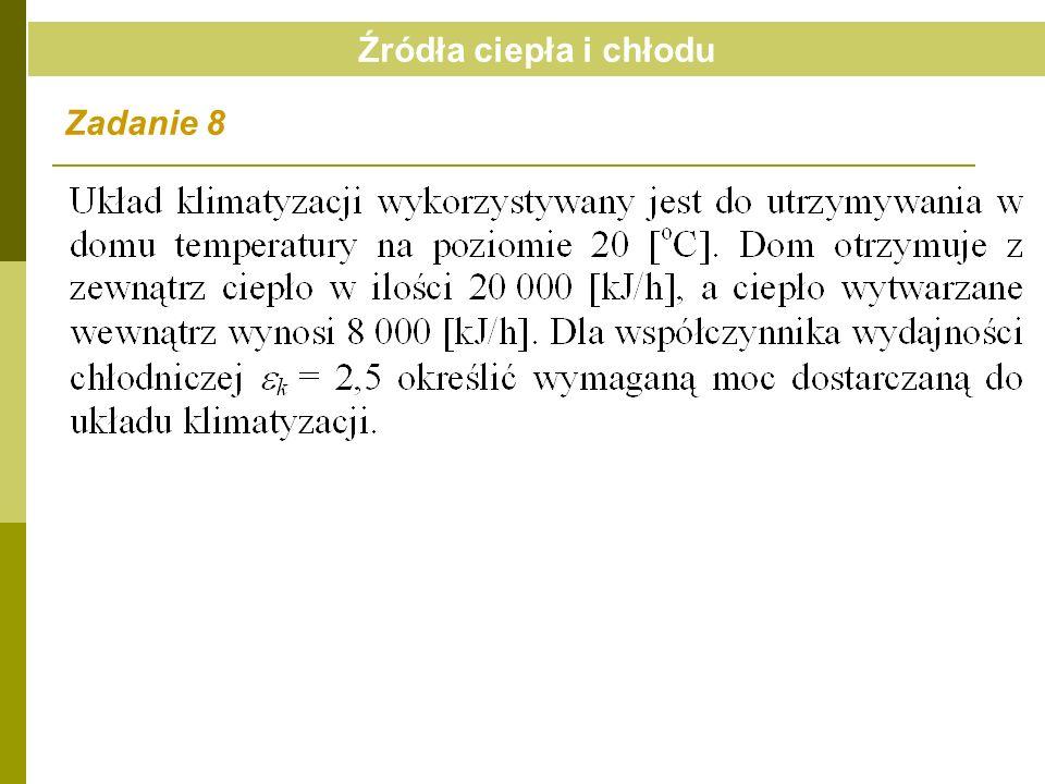 Źródła ciepła i chłodu Zadanie 8