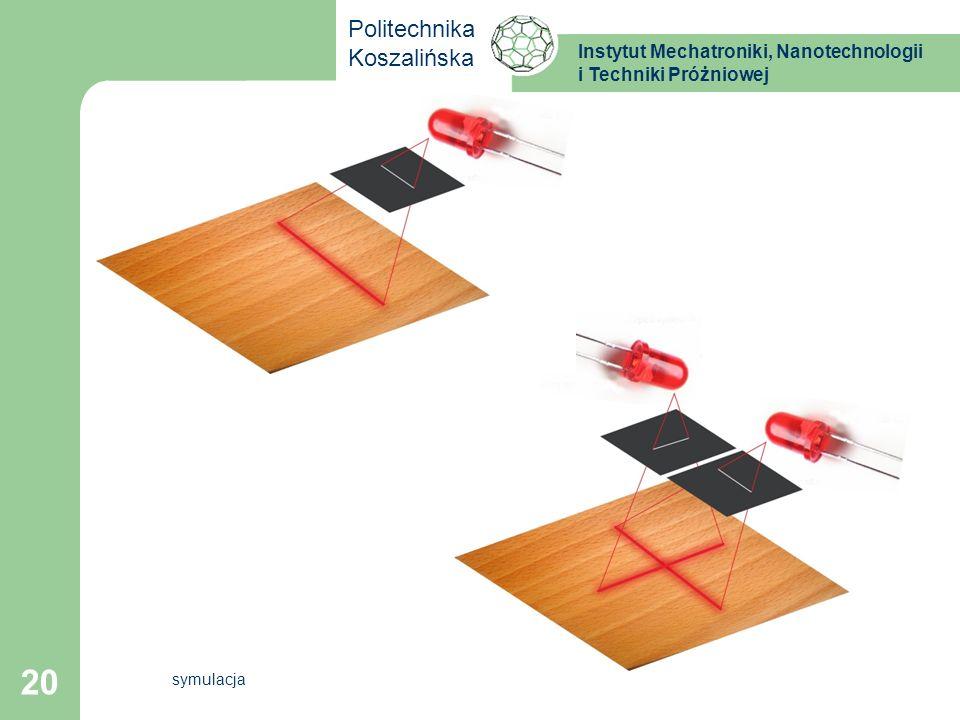Instytut Mechatroniki, Nanotechnologii i Techniki Próżniowej Politechnika Koszalińska 20 symulacja
