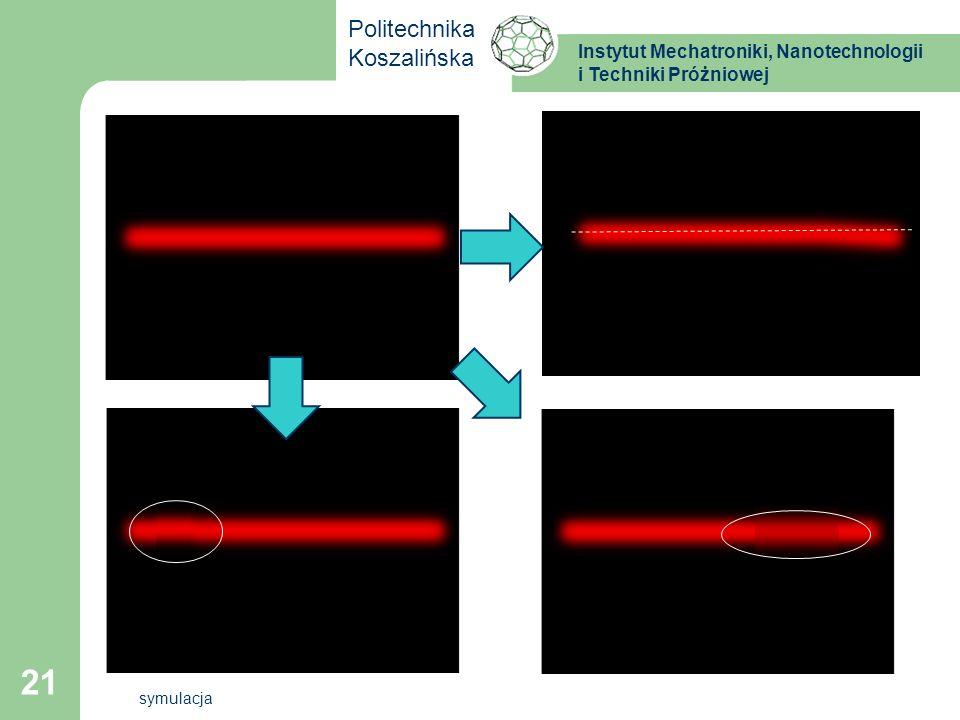Instytut Mechatroniki, Nanotechnologii i Techniki Próżniowej Politechnika Koszalińska 21 symulacja