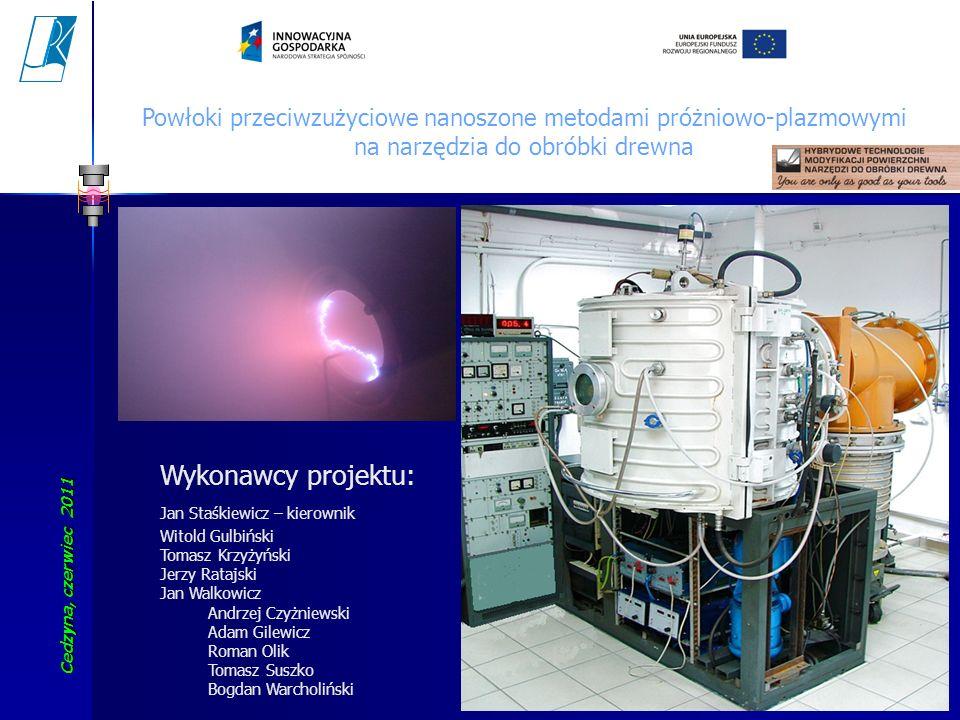 Cedzyna, czerwiec 2011 Koszalin University of Technology 33 Powłoki przeciwzużyciowe nanoszone metodami próżniowo-plazmowymi na narzędzia do obróbki d