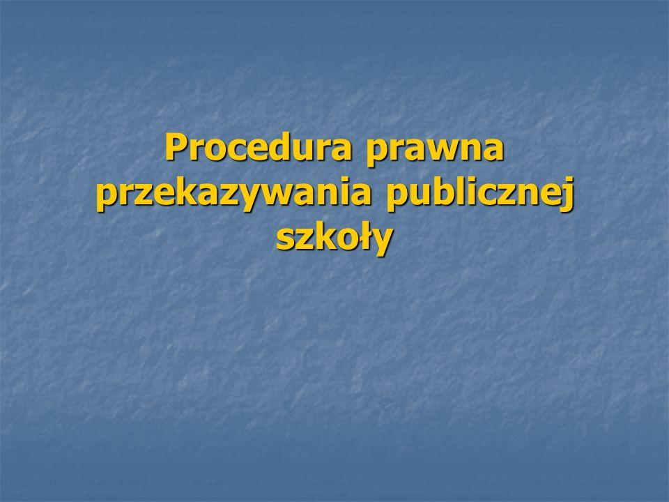 Procedura prawna przekazywania publicznej szkoły