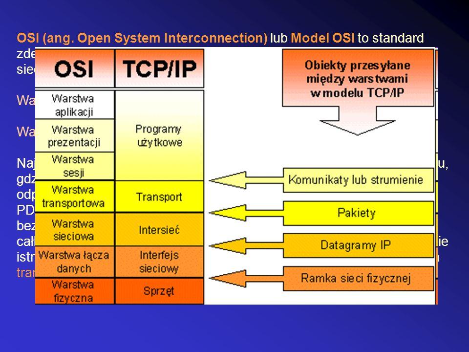 OSI (ang. Open System Interconnection) lub Model OSI to standard zdefiniowany przez ISO oraz ITU-T, opisujący strukturę komunikacji sieciowej. Warstwy