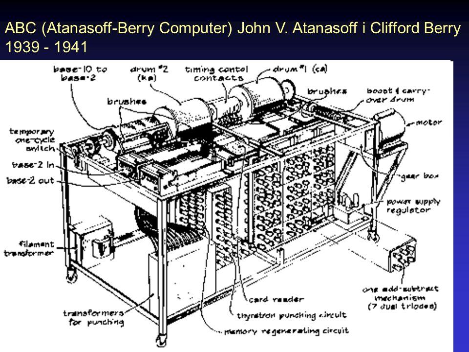 ENIAC 1946 12 x 6 m 30 ton 70 000 oporników 10 000 kondensatorów 6 000 przełączników 18 000 lamp el.
