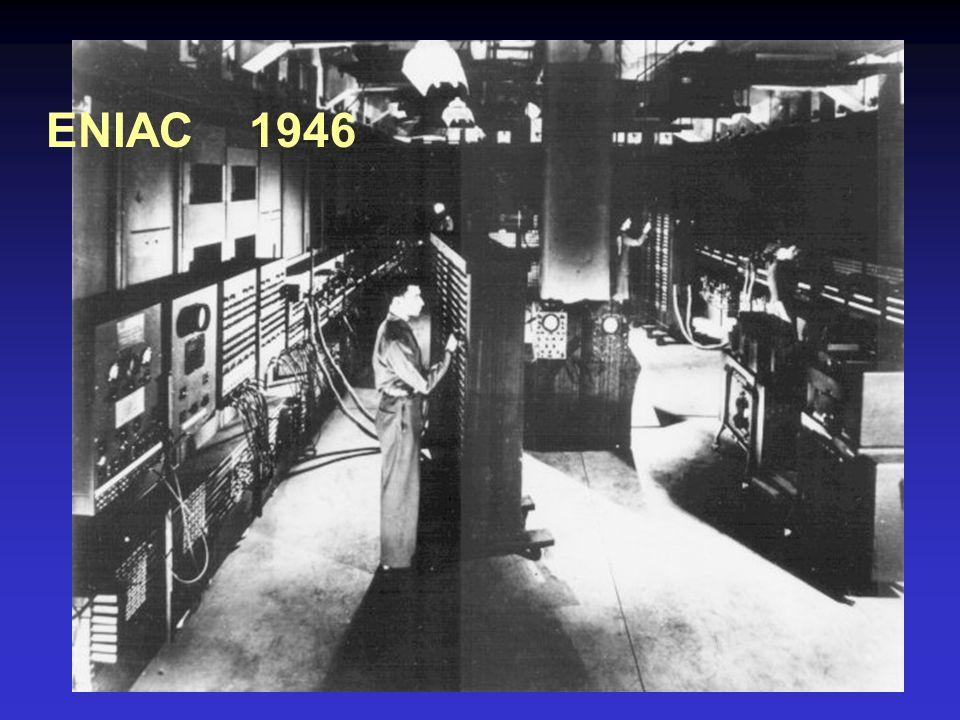 EDVAC (Electronic Discrete Variable Automatic Computer ) 1945 – 1952 Zgodnie z koncepcją Neumanna posiadał pamięć mogącą przechowywać zarówno dane jak i program obliczeń.