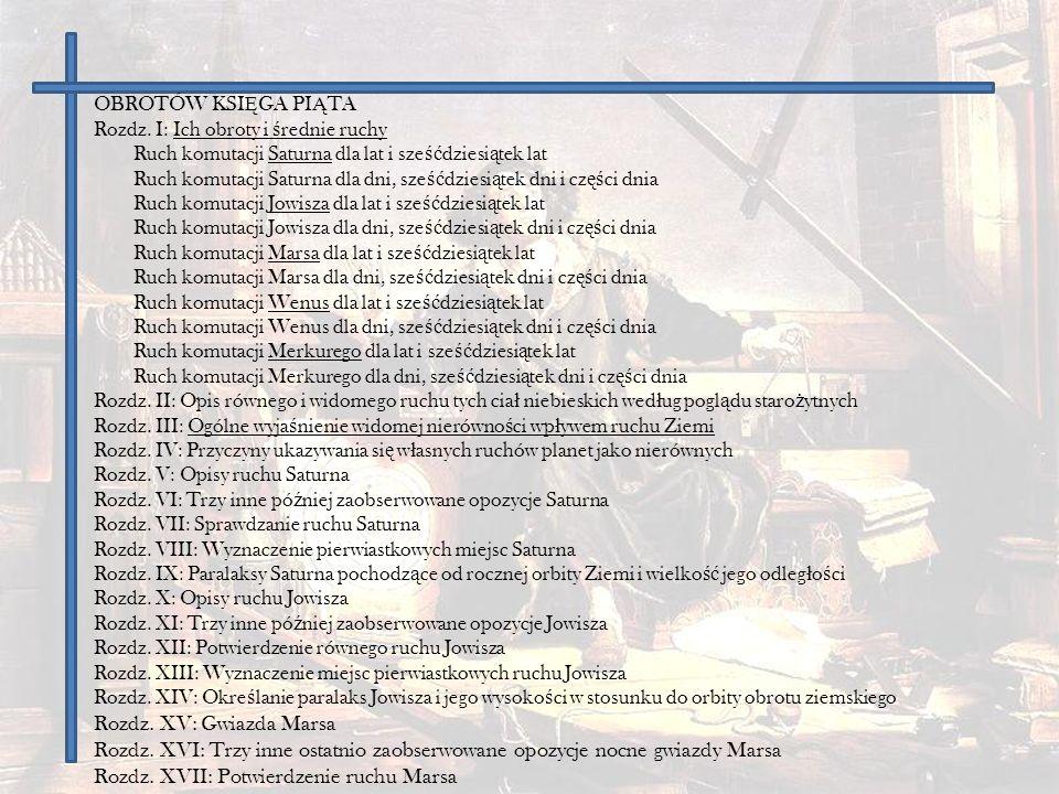 Rozdz.XVIII: Ustalenie pierwiastkowych miejsc Marsa Rozdz.