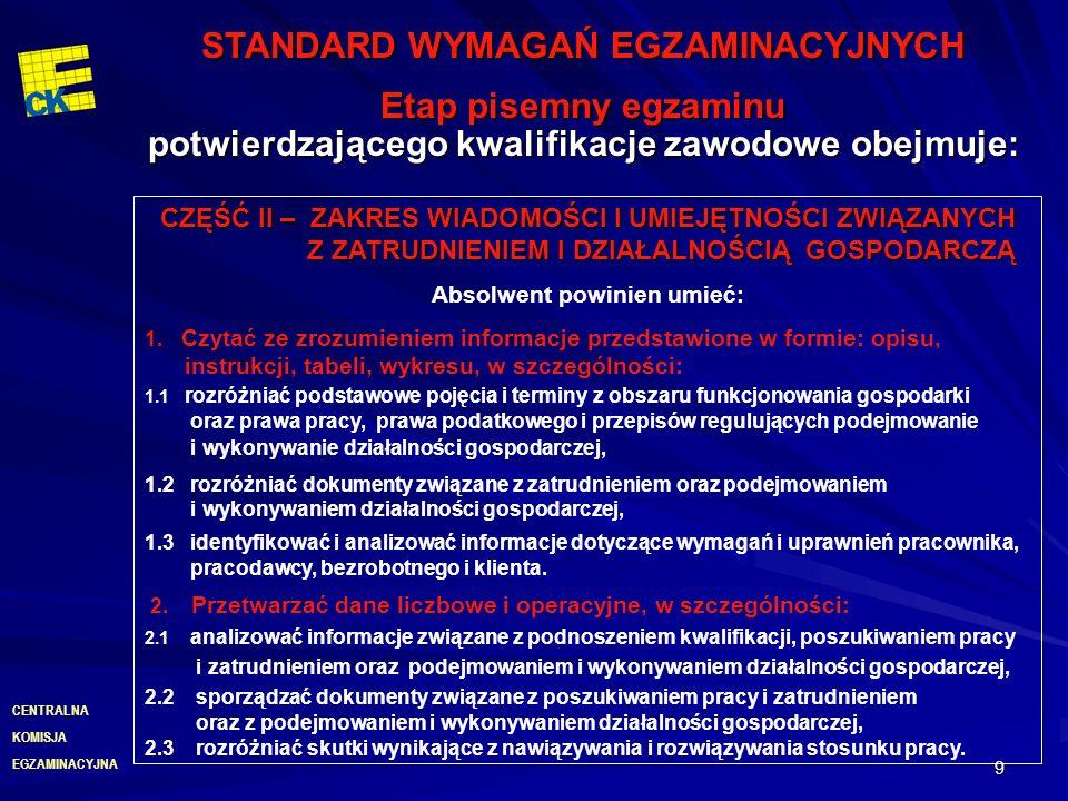EGZAMINACYJNA CENTRALNA KOMISJA 20 Deklaracja zdającego Egzamin jest nieobowiązkowy, dlatego każdy kto chce do niego przystąpić musi złożyć pisemną deklarację dotyczącą przystąpienia do egzaminu w danym zawodzie.