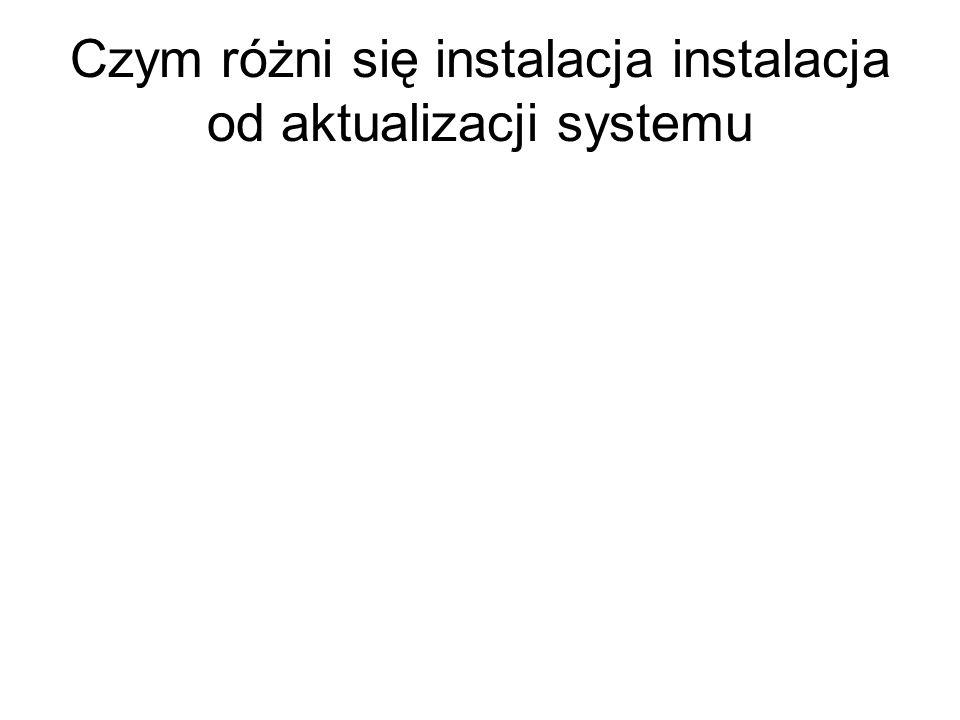 Czym różni się instalacja instalacja od aktualizacji systemu