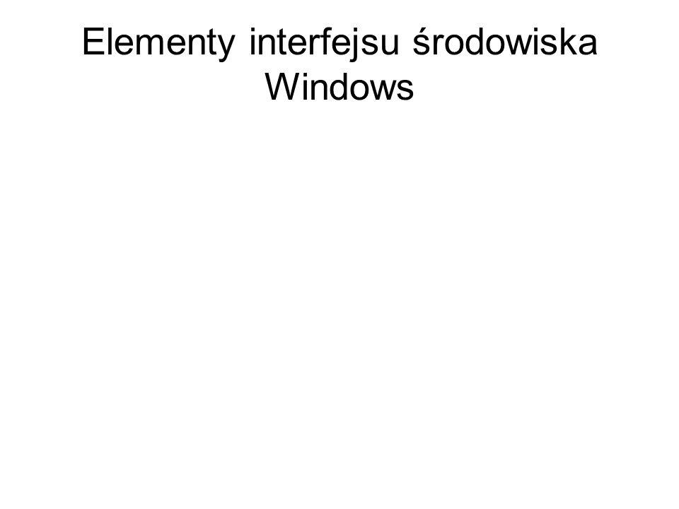 Elementy interfejsu środowiska Windows