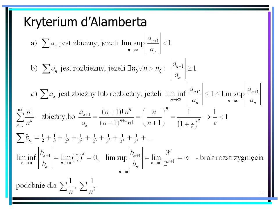 39 Kryterium dAlamberta